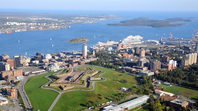Aerial view of Halifax Citadel