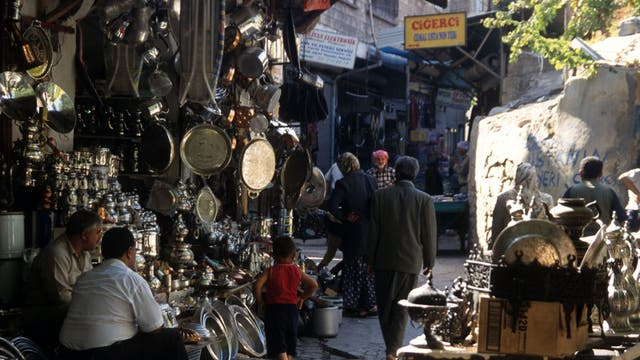 A market in the holy city of Sanliurfa