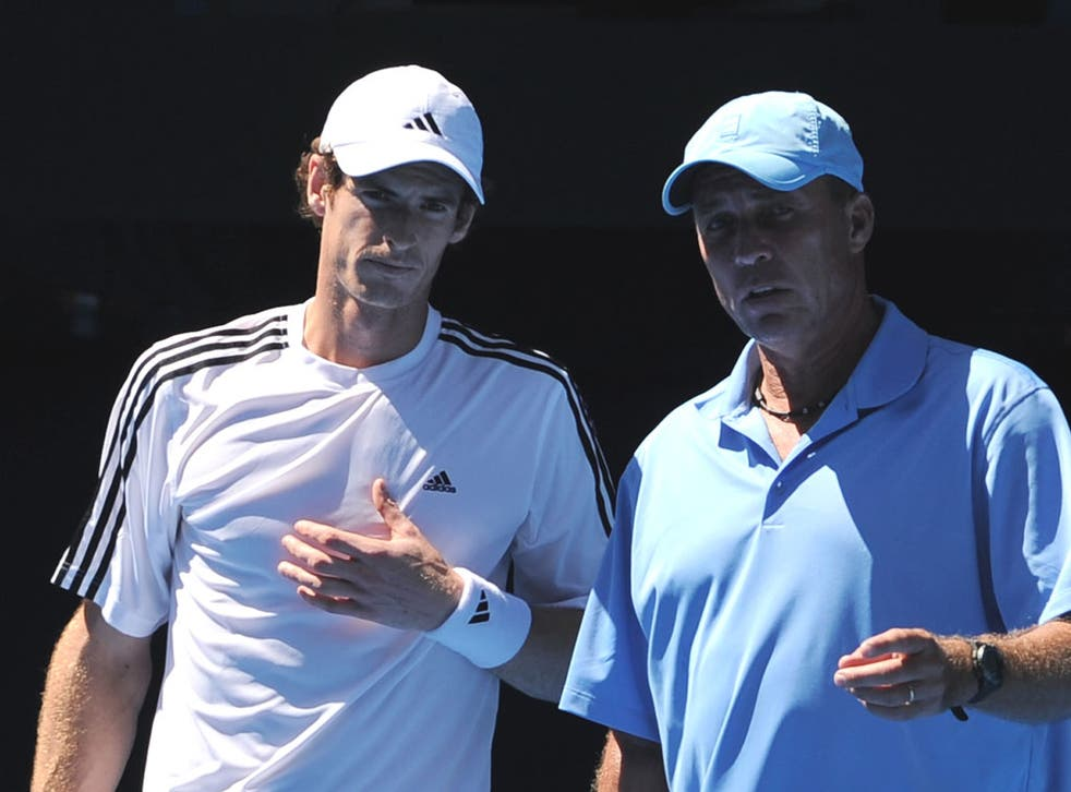 Lend a hand: Andy Murray feels 'much calmer' with Ivan Lendl watching him