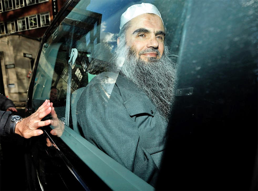 Abu Qatada is driven away after being refused bail at Tuesday's hearing