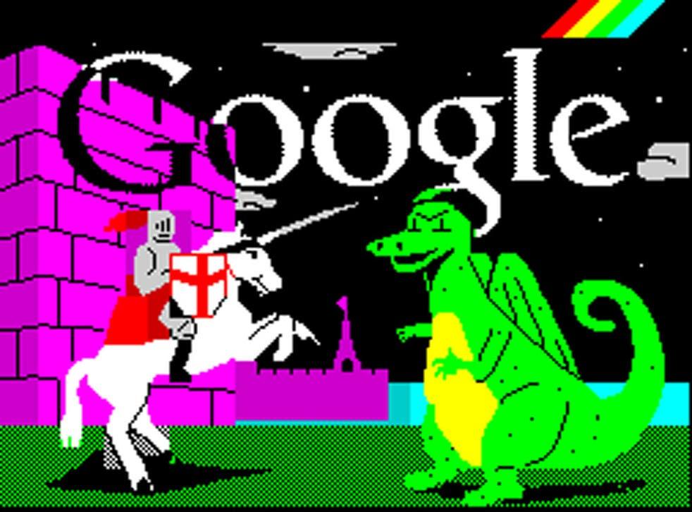 On 24 April Google marked St George's Day and the 30th anniversary of the release of the ZX Spectrum home computer by adorning its home page with an 8-bit style graphic of St George slaying a dragon.