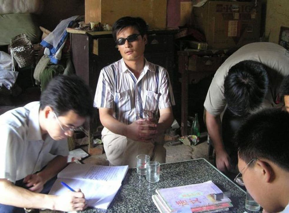 Chen Guangcheng had been detained in his home since 2010 after serving a four-year jail term for 'organising a mob to disturb traffic'