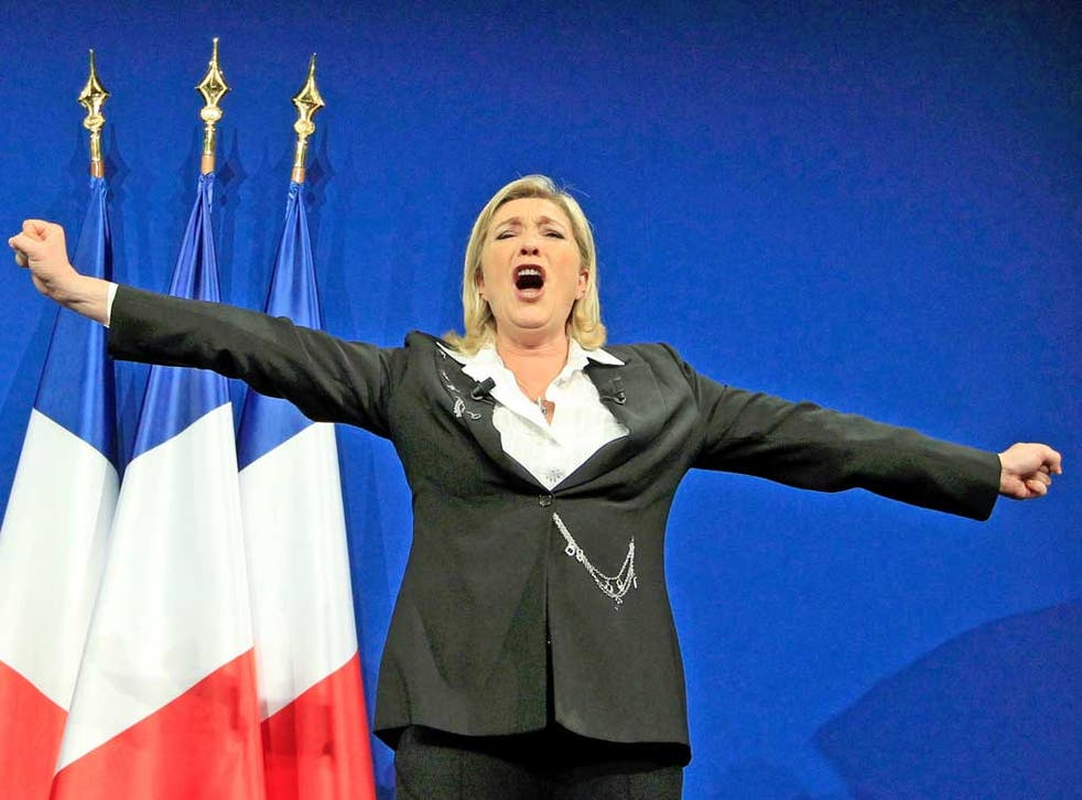 Marine Le Pen celebrates her success