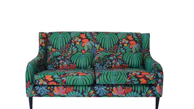 Terence Conran's formula is simple: choose a sofa, pick a fabric, and Content by Conran will create your perfect perch. Prints include the leafy number above. From £1,595, contentbyconran.com