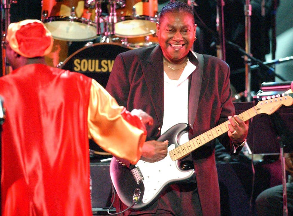 Pitts, right, on stage with Isaac Hayes in Memphis in 2003; the two worked together for nearly 40 years