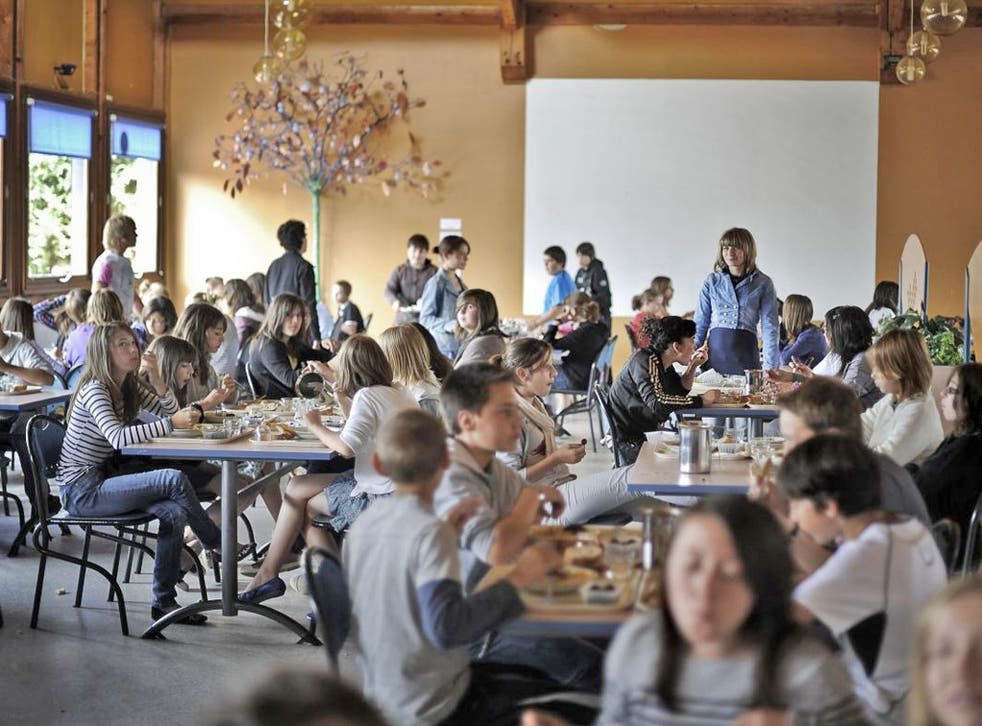 A school lunch in France