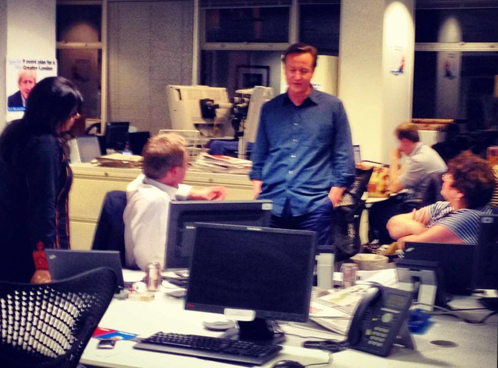 David Cameron watches a demoralising night unfold at Tory HQ