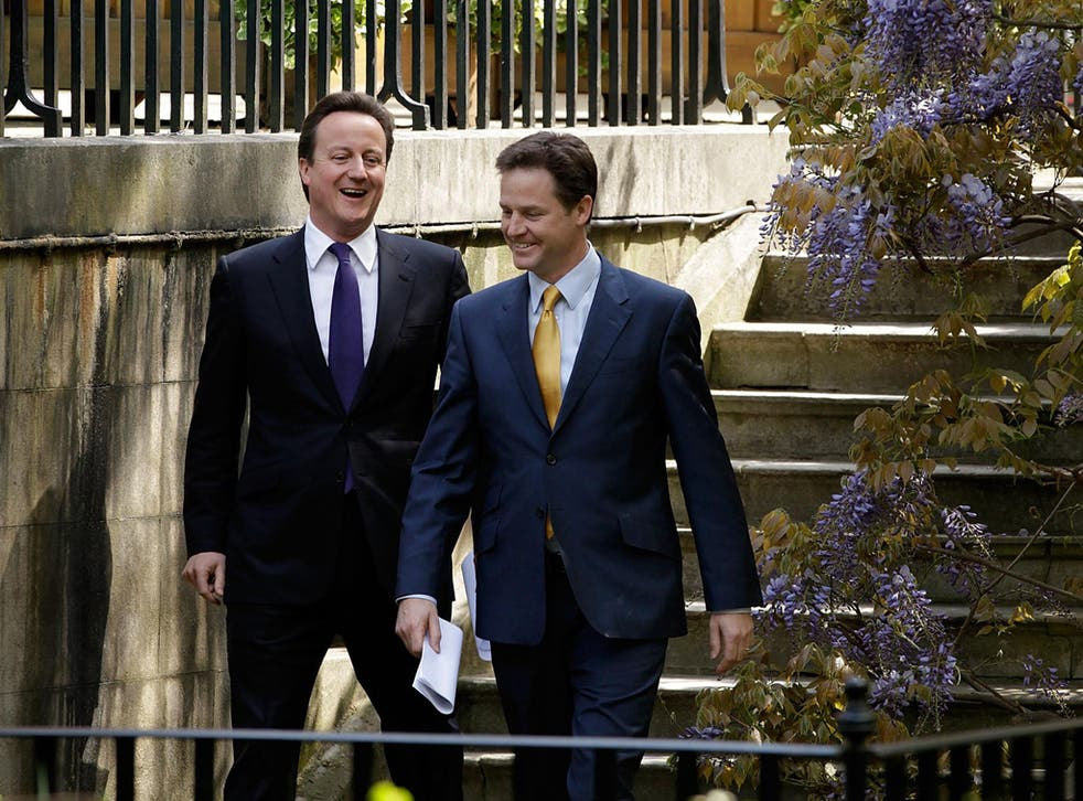 Two years on from the Coalition launch, Nick Clegg's local election losses will hurt his party much more than David Cameron's Tories