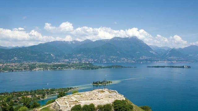 Manerba on the shores of Lake Garda was one of the unlikely destinations on the route