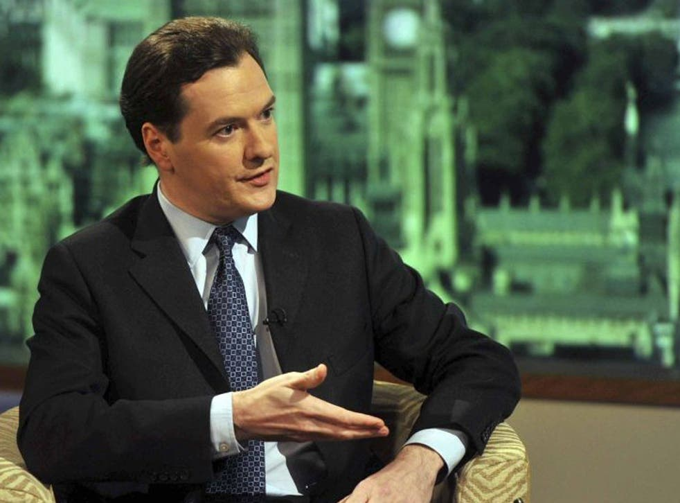 Osborne on BBC1's The Andrew Marr Show this morning