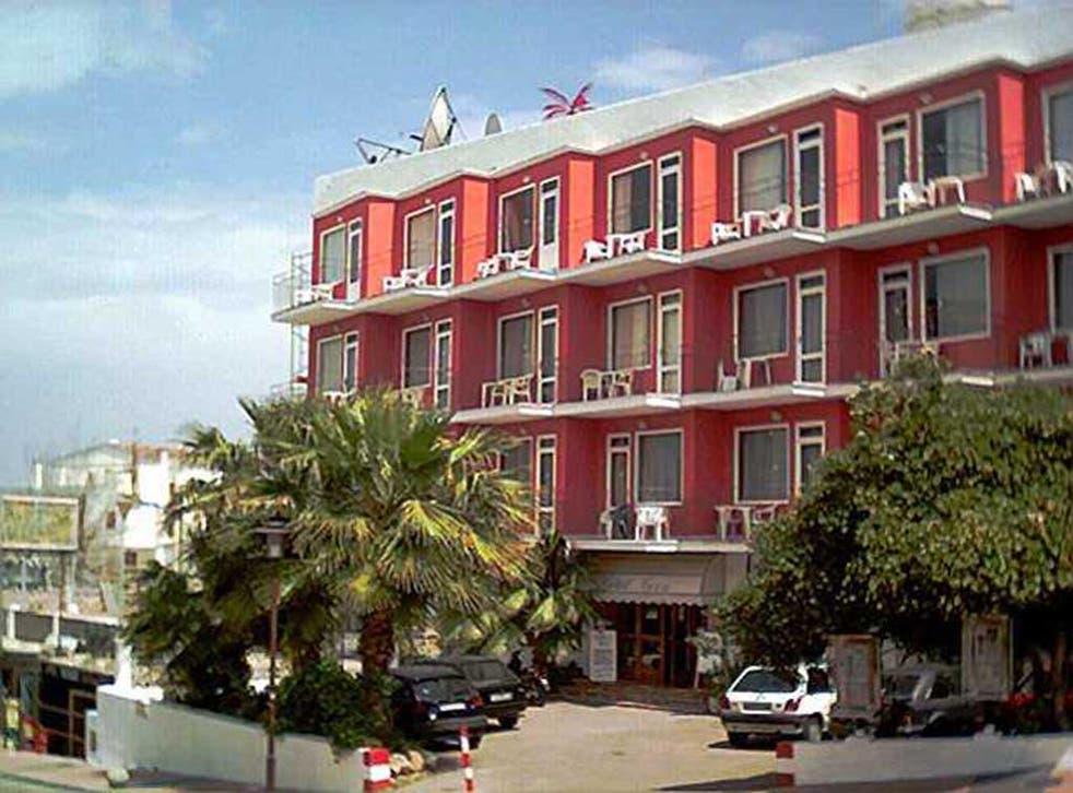 Hotel Tiex in Majorca where Charlotte Faris died in a fall from a balcony
