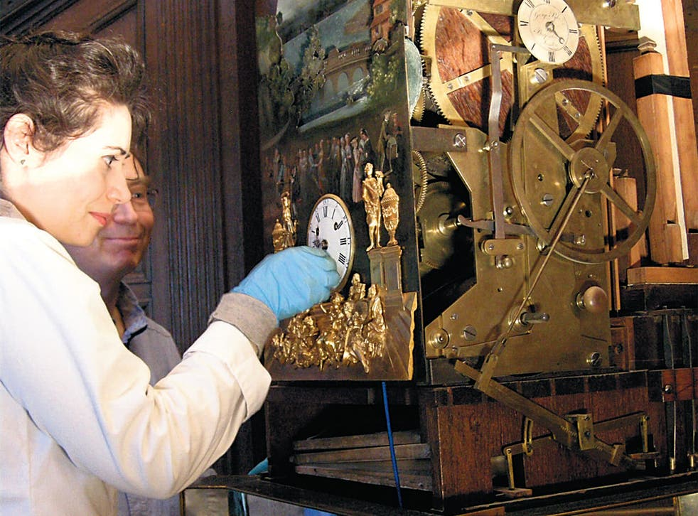 Brittany Cox puts her conservation skills to work in restoring an antique clock