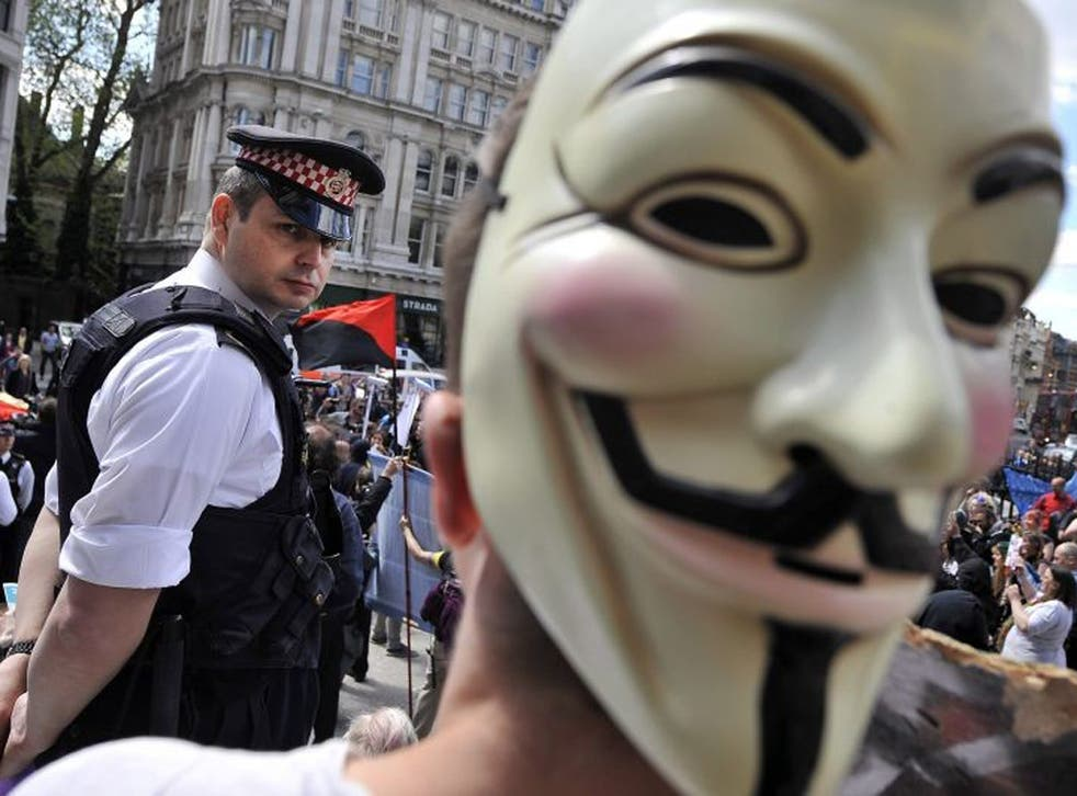 Occupy London protesters demonstrate outside St. Paul's Cathedral