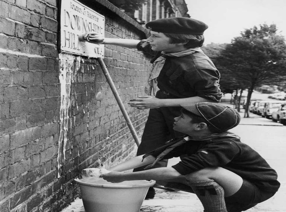 Hampstead Scouts busy earning their bob on the streets in 1969