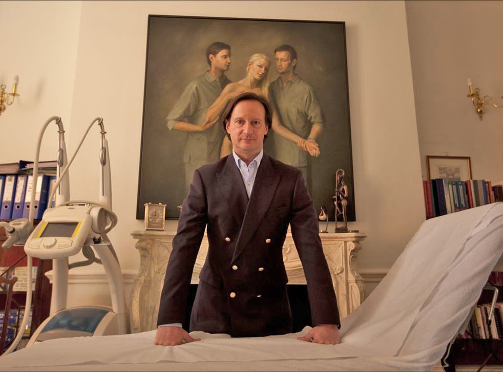 Man's world: Roberto Viel at his surgery in central London