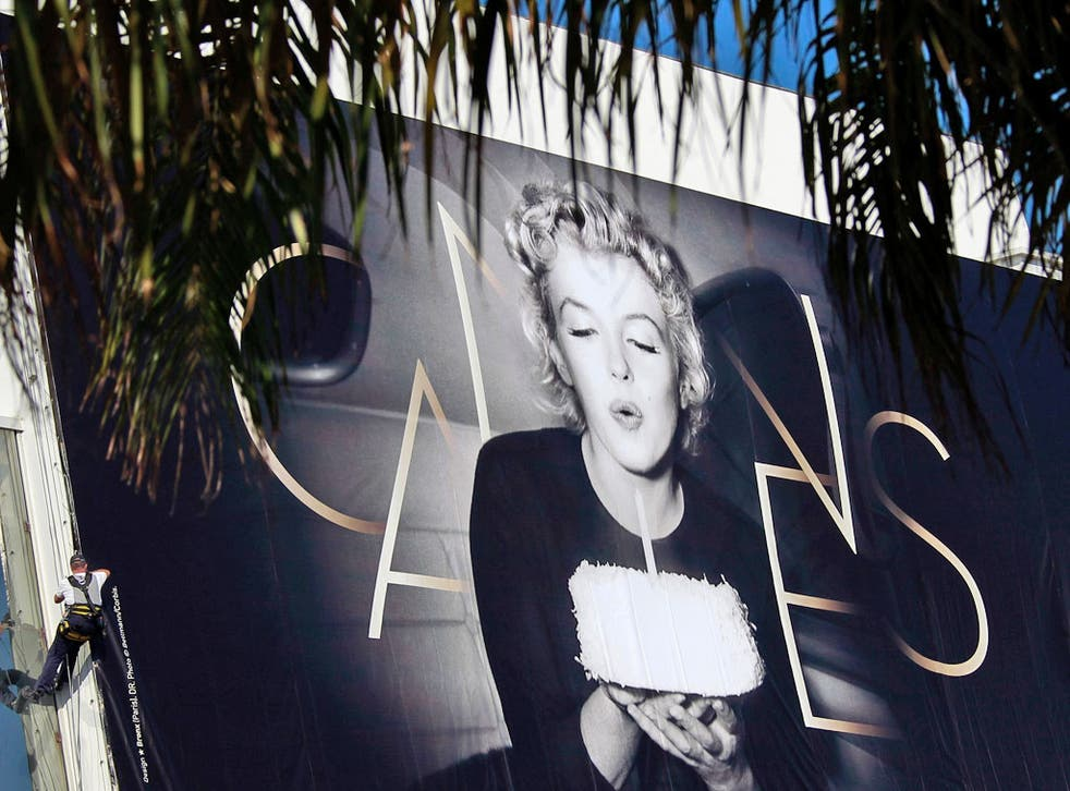 The official poster at Cannes Film Festival features Marilyn Monroe