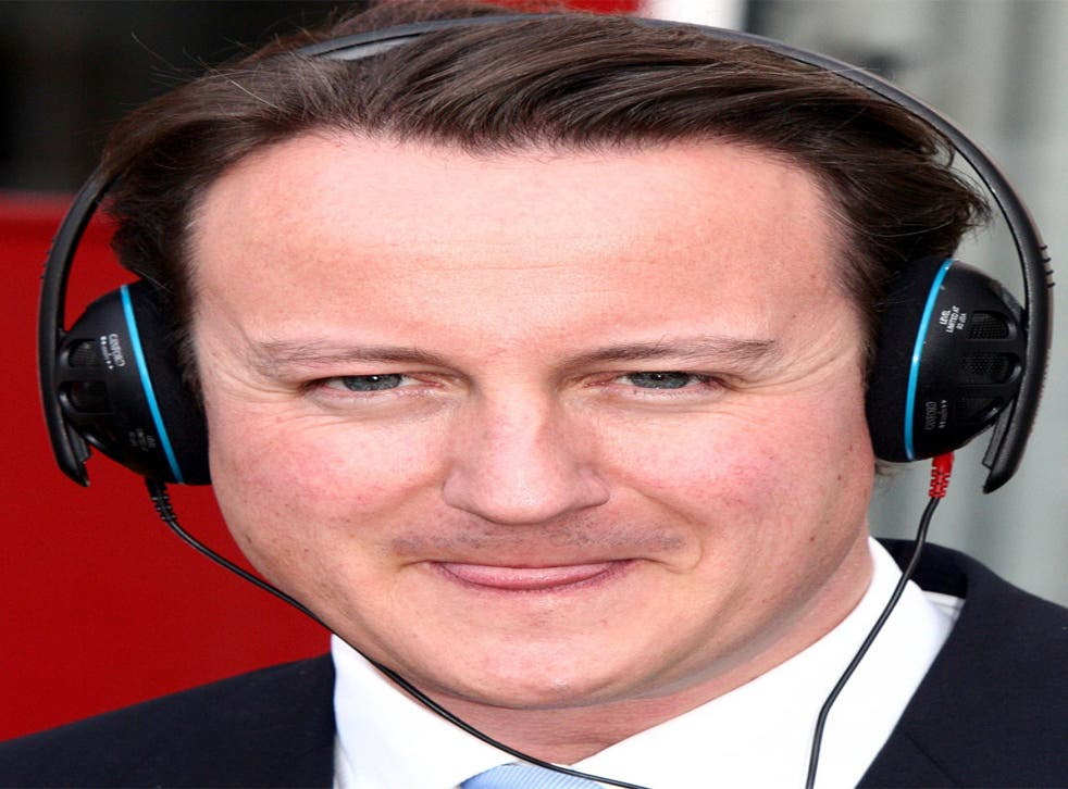 Music to watch polls by: David Cameron gets his headphones around Pink Floyd
