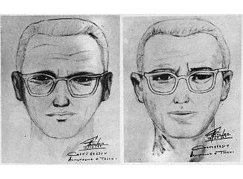 Sketches of the 'Zodiac' killer produced by the San Francisco police and witnesses in 1969