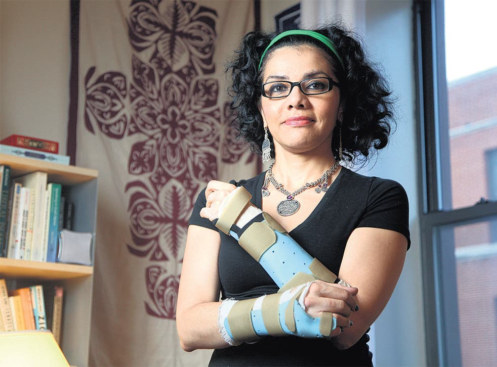 Mona Eltahawy is recovering the use of her hands in New York