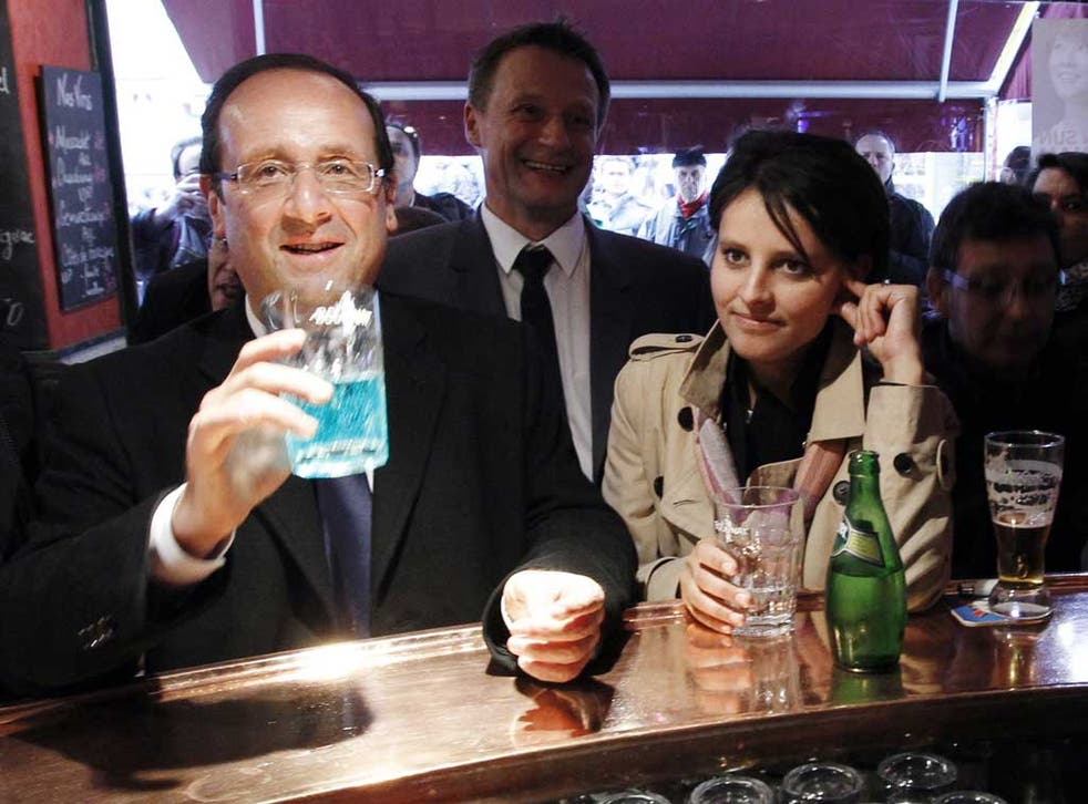Najat Vallaud-Belkacem on the campaign trail with François Hollande last month during the presidential elections