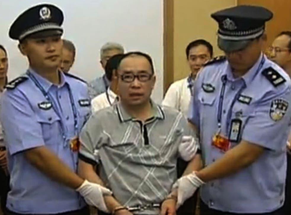 Lai Changxing appears for sentencing in a court in Xiamen