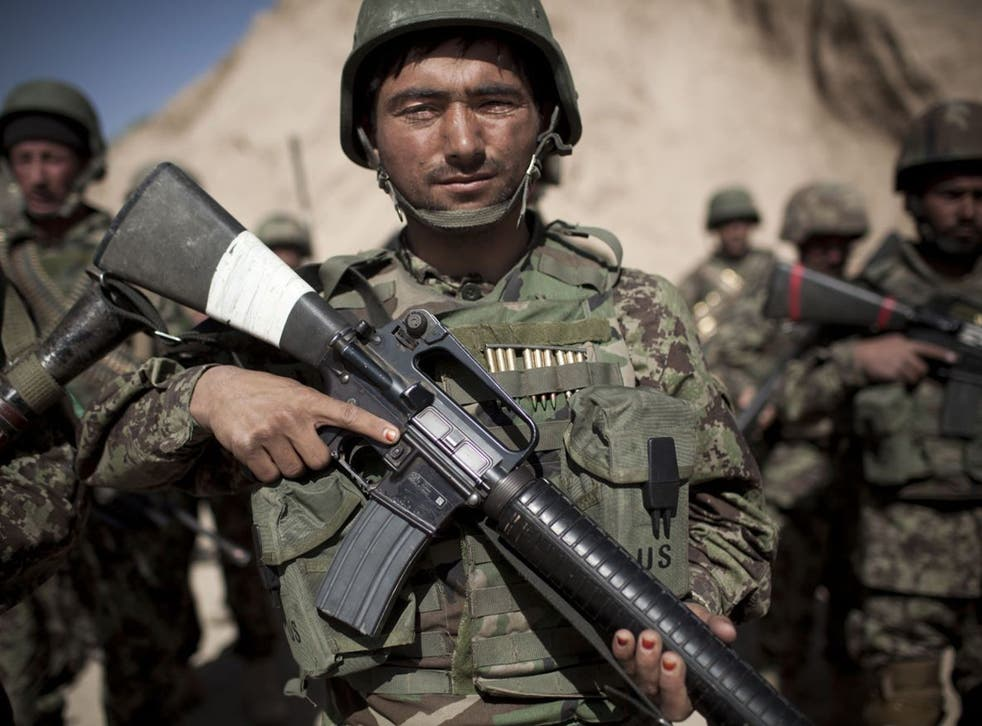 Afghan forces will take sole control of security in the country after Nato forces pull out in 2014