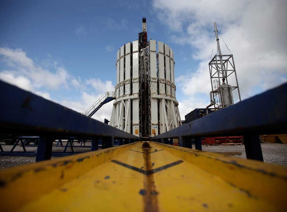 The fracking plant in Lancashire which has been blamed for earth tremors