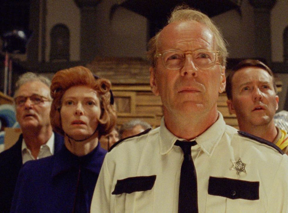Bruce Willis plays a sheriff leading a search party in 'Moonrise Kingdom'