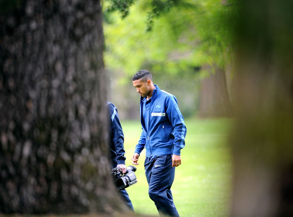 Gael Clichy pictured training for France