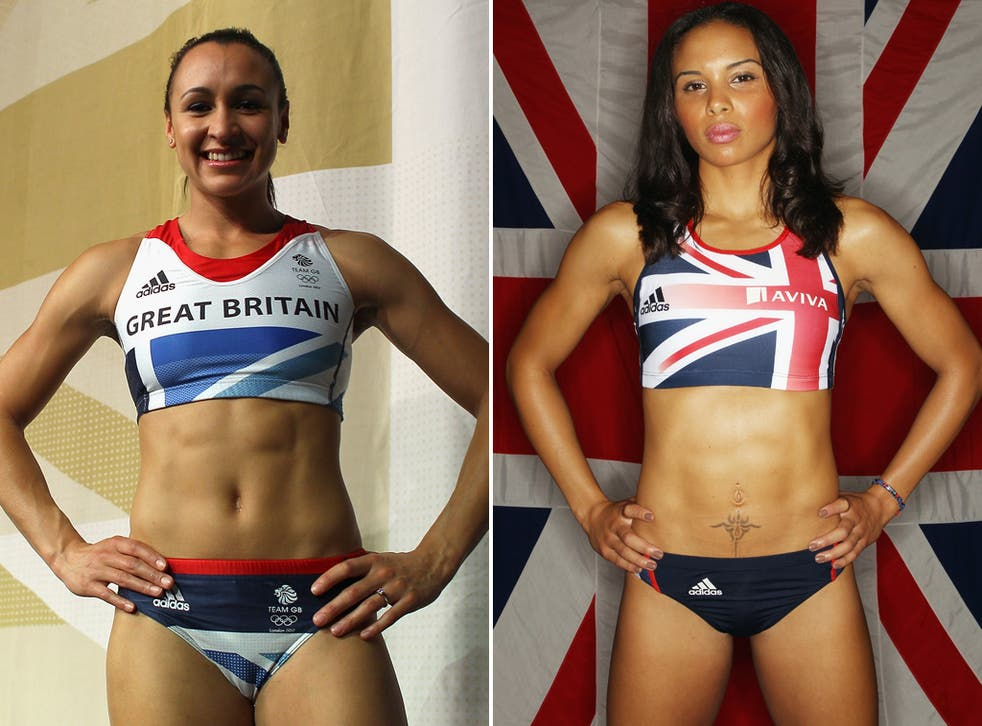 """The row over remarks branding the champion heptathlete Jessica Ennis (left) """"fat"""" escalated today as Louise Hazel (right) said she had suffered similar comments."""