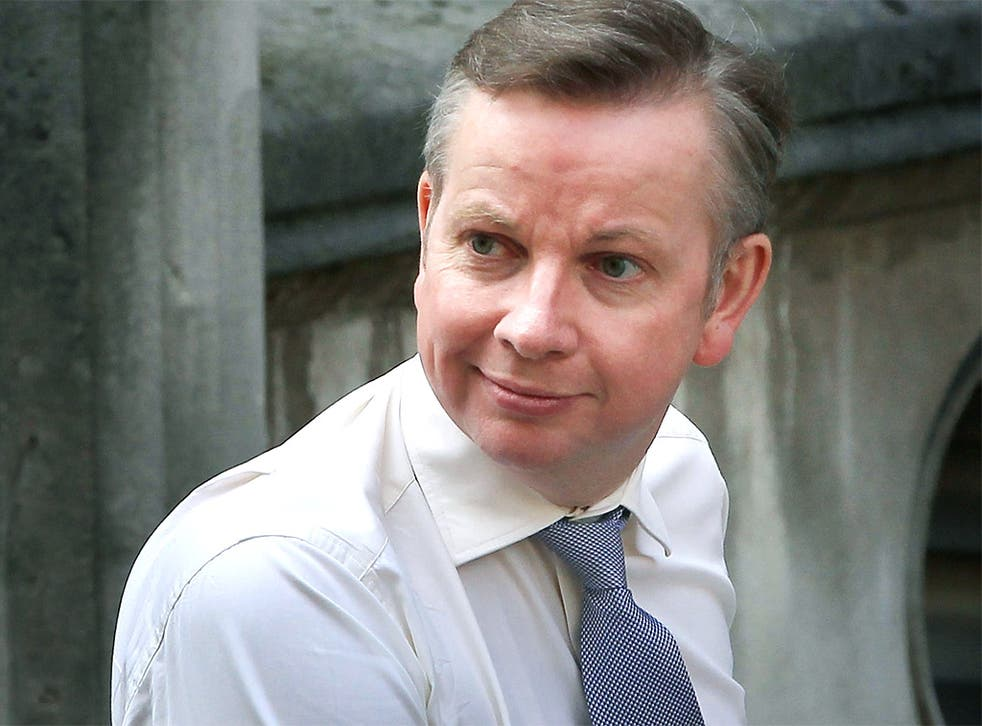 Education Secretary Michael Gove arrives at the Leveson Inquiry yesterday