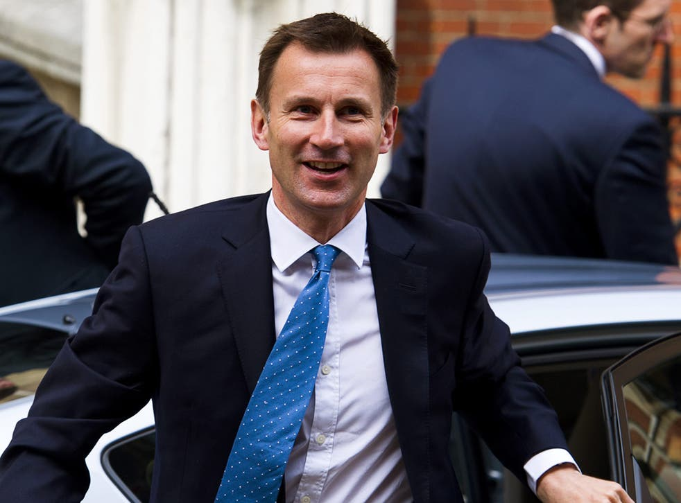 Jeremy Hunt arrives to give evidence at the Leveson Inquiry yesterday