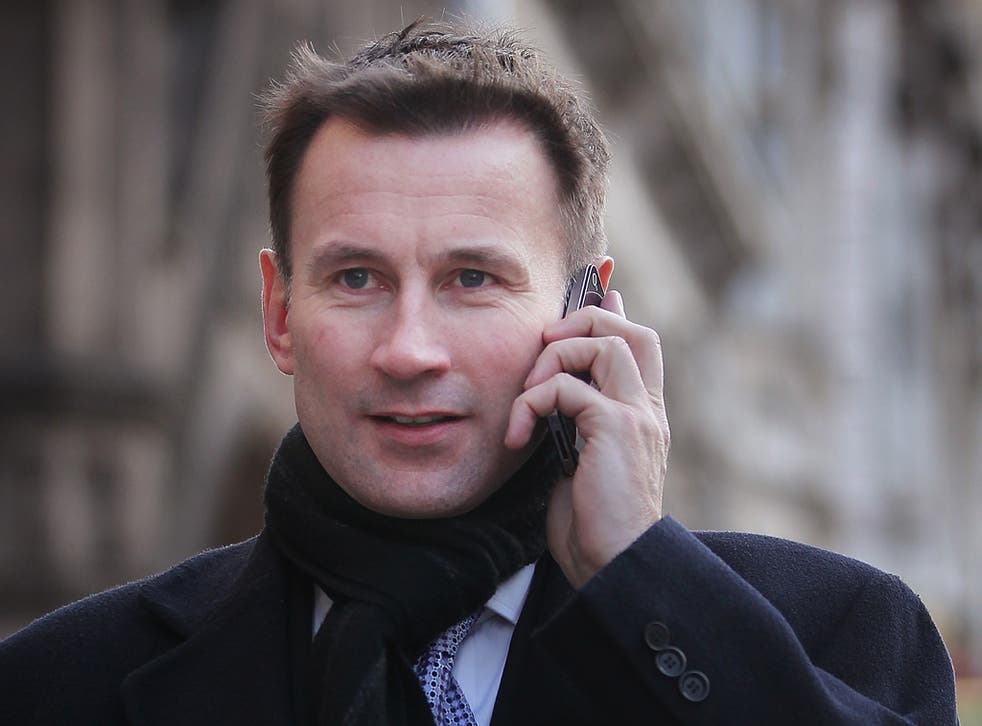 Jeremy Hunt will never have thought his texts would be released for the public gaze