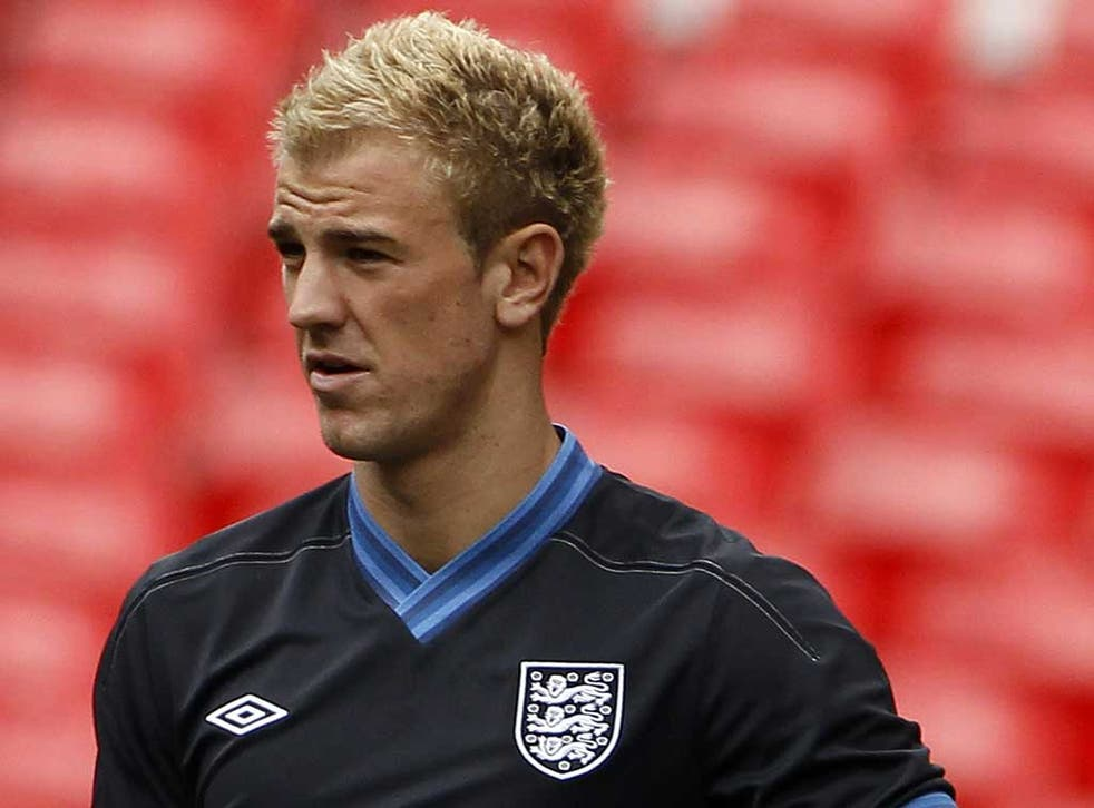 Got it taped: Joe Hart is determined to make his presence felt at the European Championship and is eager for England to reward their 'great supporters'