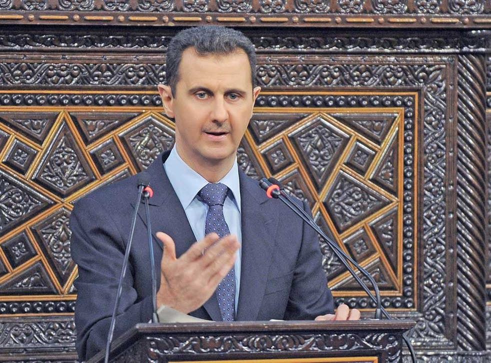 President Assad warned his war could spread to other countries
