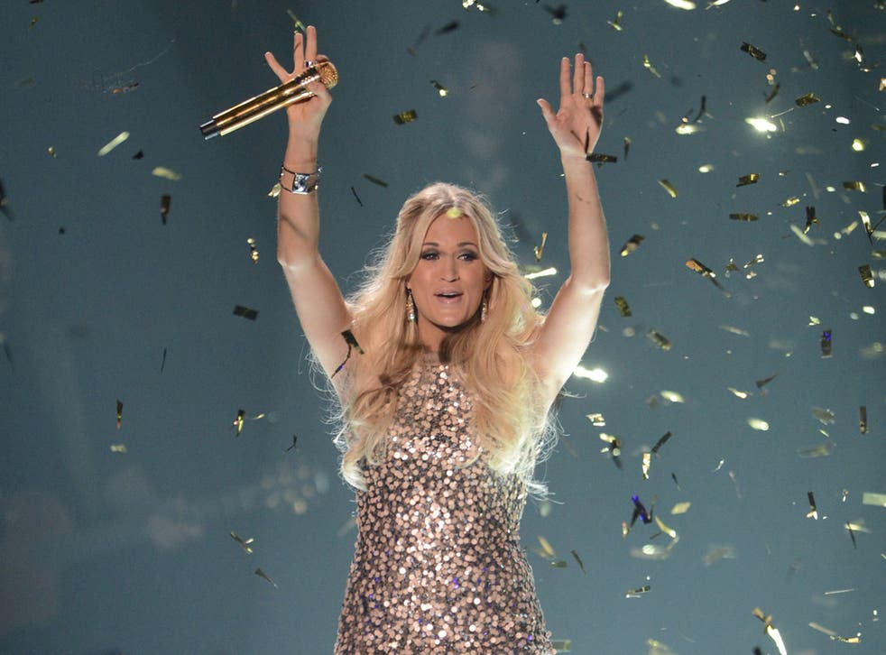 Carrie Underwood at the 2012 CMT Music awards on Wednesday