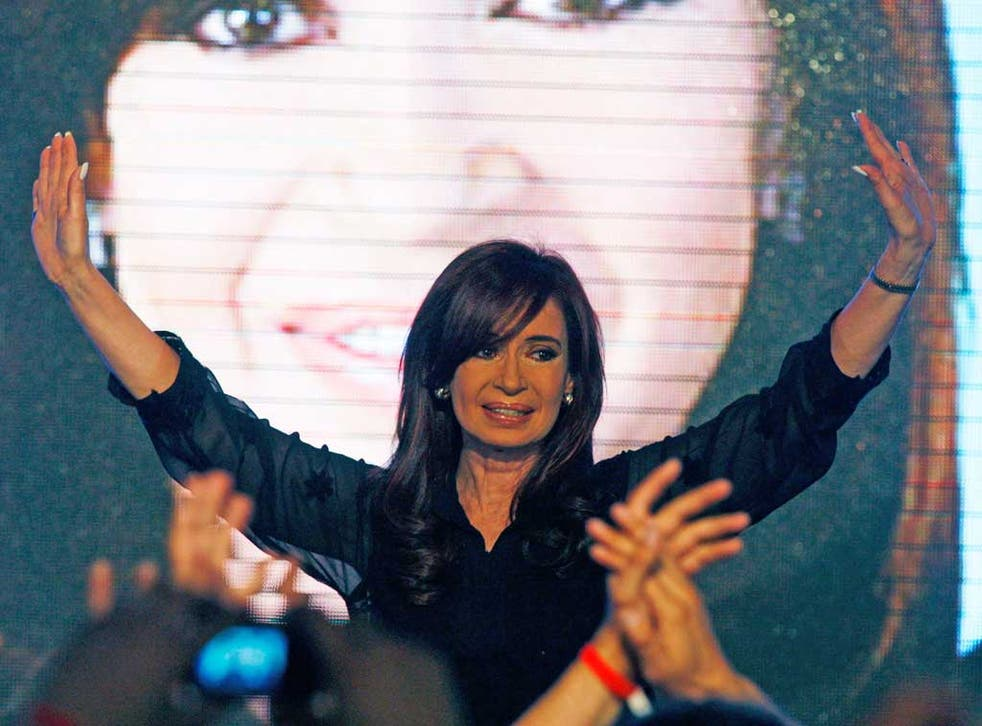 President Cristina Fernandez wants Britain to enter into negotiations about the future of the Falklands