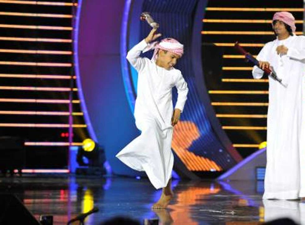 Emirati team Eyal Zayed compete inlast year's Arabs Got Talen