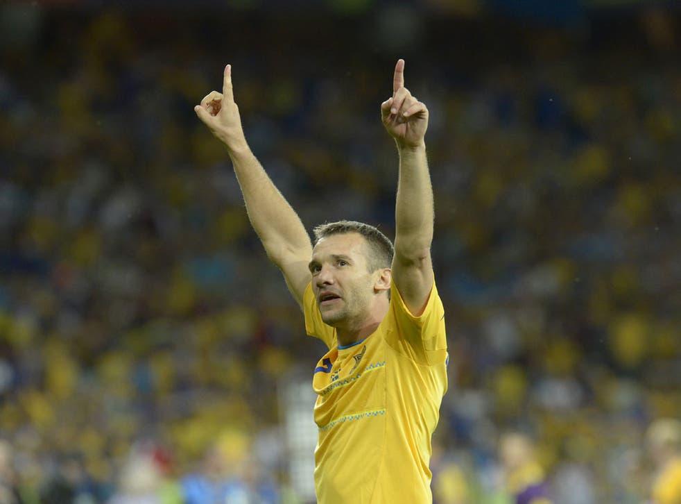 Shevchenko netted twice for Ukraine