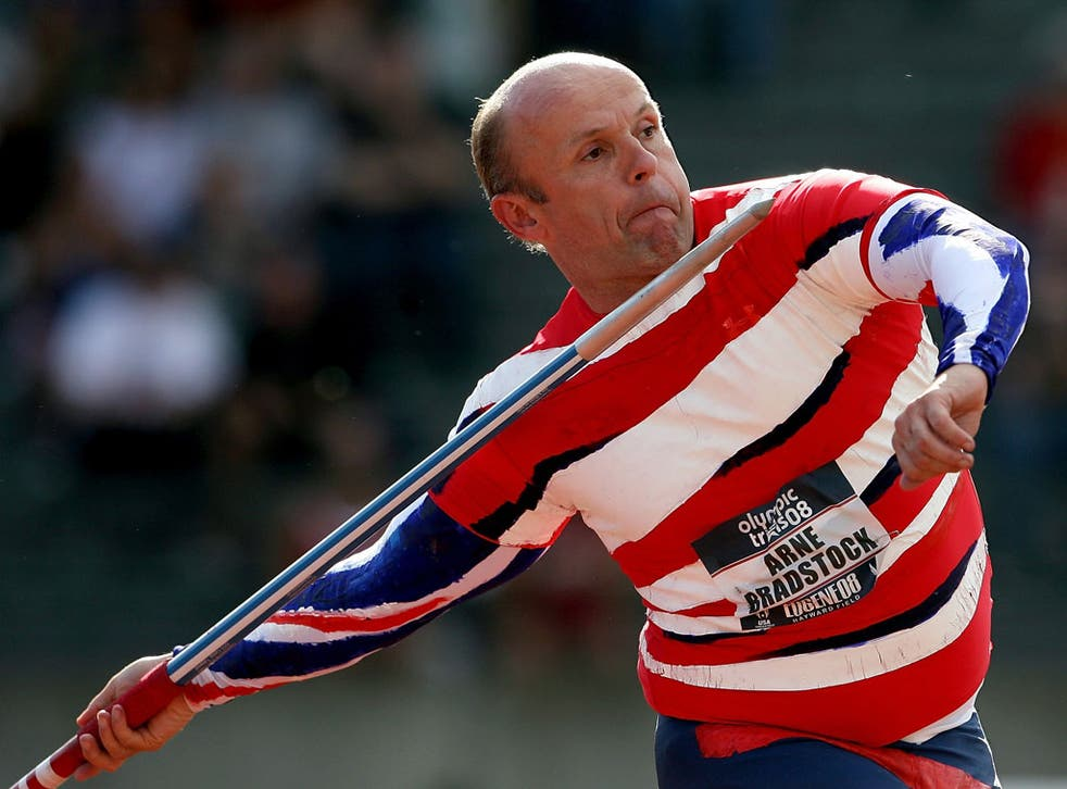 Flight of fancy: Two-time Olympian Roald Bradstock holds the world records for throwing iPods and goldfish