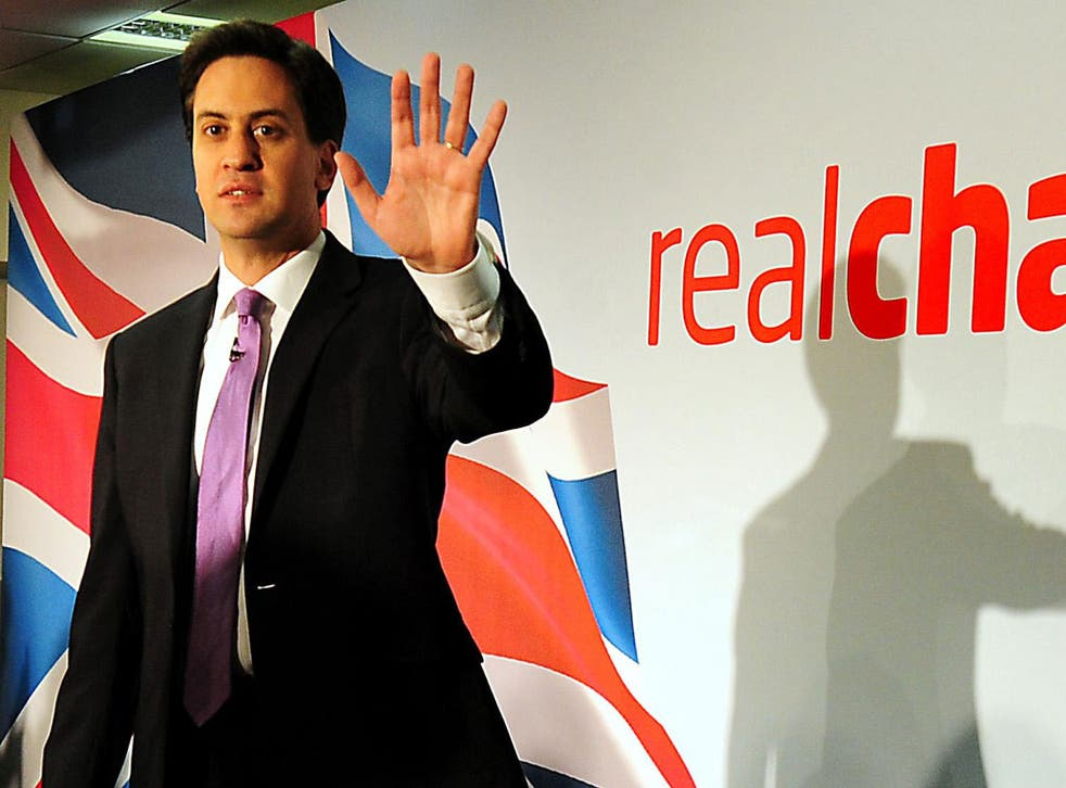 Miliband: 'When you look at Cameron, he represents the last gasp of the old'