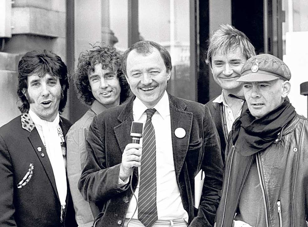 Ken and the Pickets: from left, Hibbard, David Brett, Ken Livingstone, Rick Lloyd and Red Stripe in 1984