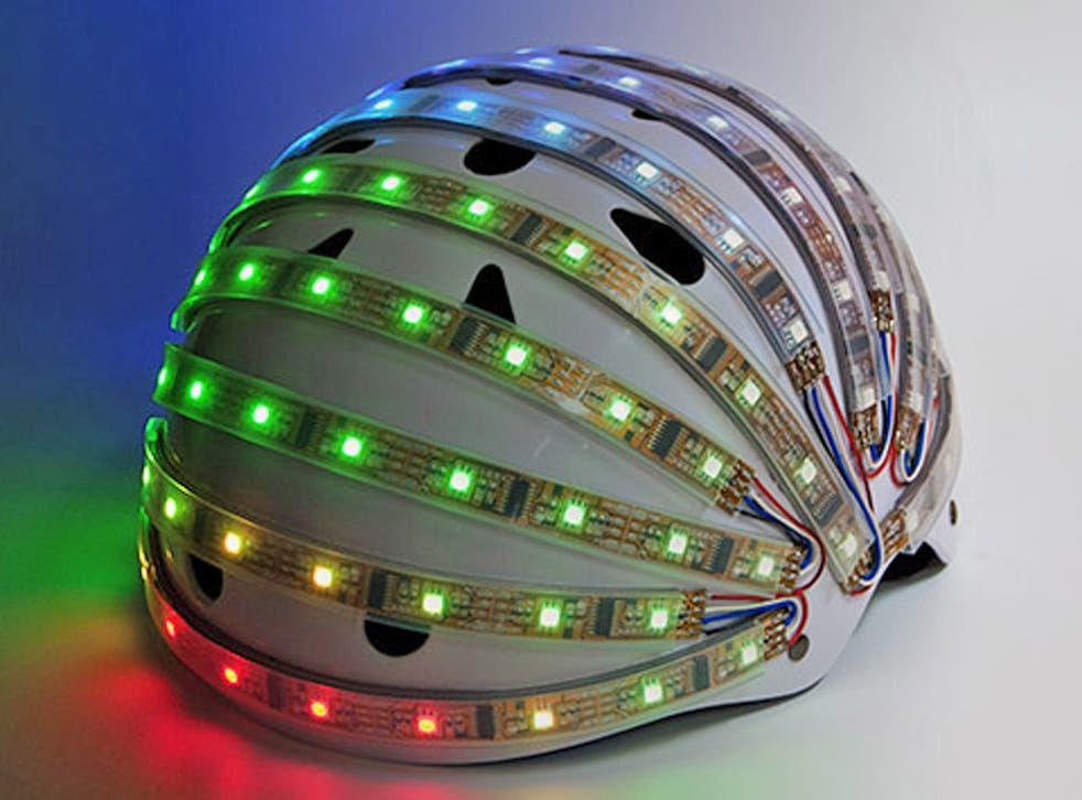 Exertion Games Lab's modified bike helmet