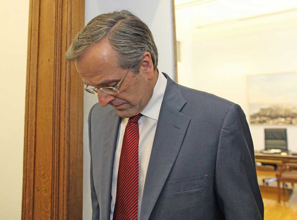 Antonis Samaras has been advised not to fly following surgery