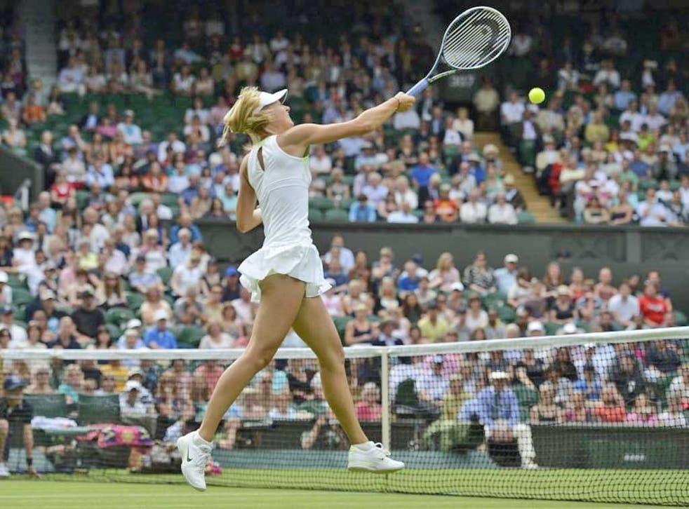 Maria Sharapova took the match 6-2 6-3