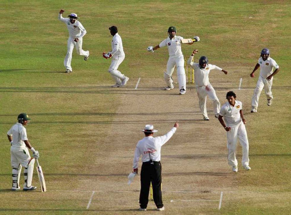 Sri Lanka seal victory over Pakistan in the first Test yesterday
