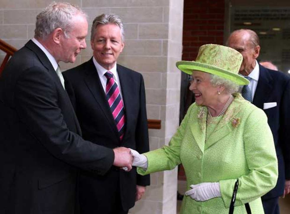 Anglo-Irish relations took a momentous step forward today when the Queen shook hands with Sinn Fein's Martin McGuinness