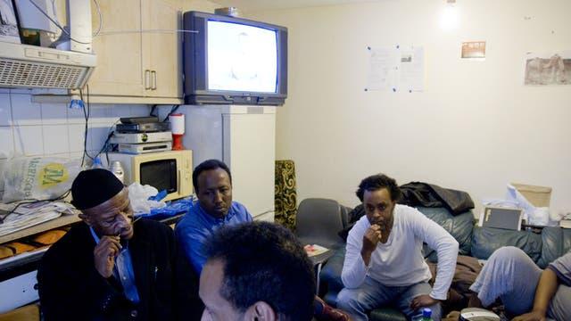 Somali men chew the fat over khat in a Peckham mafrish