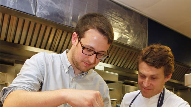 Writer Will Dean (left of main image) with chef Michael Wignal