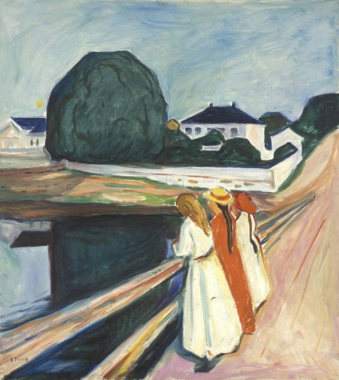 Edvard Munch Misery Of The Man In The Mirror The Independent